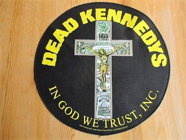 Dead Kennedys 丸形 プリントバックパッチ ワッペン