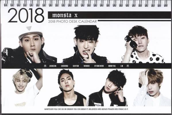 ☆New!■MONSTA X■2017-18年度 ホワイト卓上カレンダー☆韓国