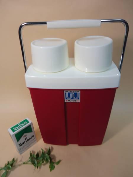 魔法瓶 温/冷 ツイン 水筒 遠足 ピクニック 昭和レトロ 未使用 ポット まほうびん