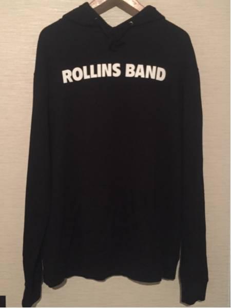 ROLLINS BAND 正規 パーカー 黒 XL レア Black Flag ロリンズ