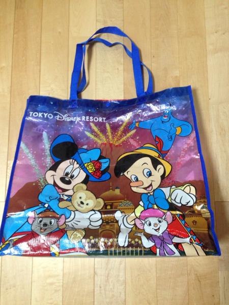 ダッフィー 有料 ショッピングバッグ レア レトロ ディズニー ディズニーグッズの画像