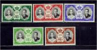 モナコ1956年 グレース王妃婚姻切手セット(除航空切手)
