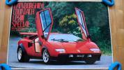 ★スーパーカー ランボルギーニ カウンタック LP500S WW ポスター 美品
