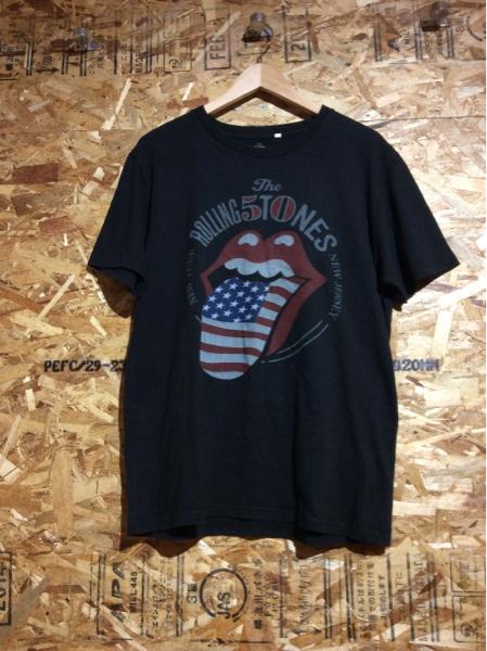ほ59 ローリングストーンズ 50周年記念プリントTシャツ 黒 LL ライブグッズの画像