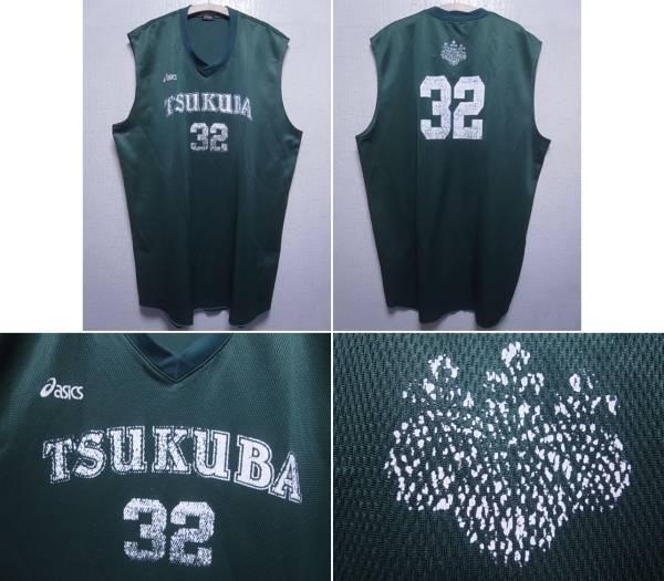 15030★asics 筑波大学 TSUKUBA バスケシャツ No32☆5XO ライブグッズの画像
