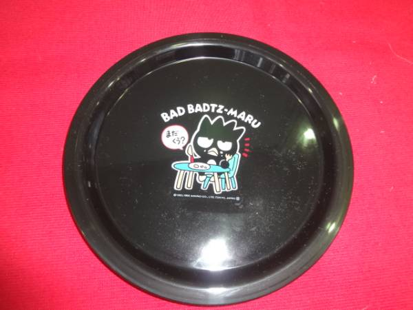 BAD BADTZ-MARU プレート/サンリオ バッドばつ丸 黒☆未使用 グッズの画像