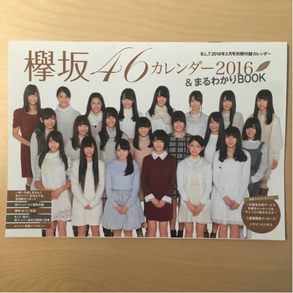 欅坂46 カレンダー 2016 平手友梨奈 別冊 付録 BLT