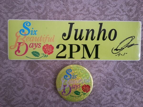 2PM『Six Beautiful Days』バッチ&ステッカー☆ジュノ