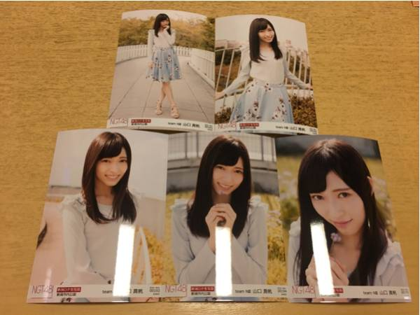 NGT48 生写真 ロケ november 11月 5種 コンプ 山口真帆 ライブグッズの画像