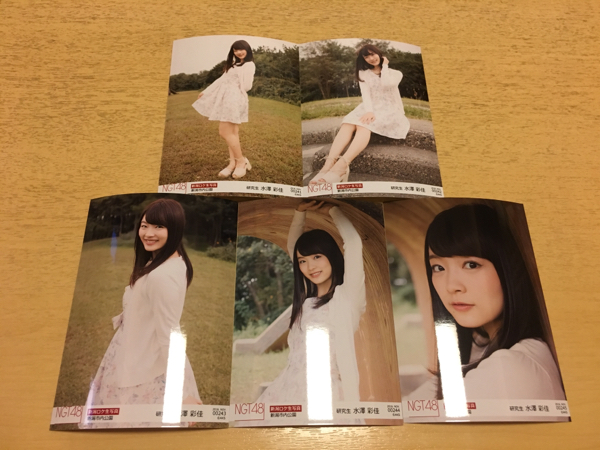 NGT48 生写真 ロケ november 11月 5種 コンプ 水澤彩佳 ライブグッズの画像