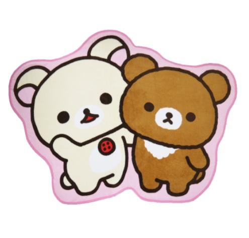 ◆コリラックマと新しいお友達★ダイカットブランケット グッズの画像