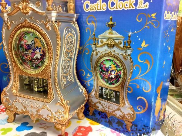 ◆ディズニー プリンセス★キャッスルクロック★アリス★ 置時計 ディズニーグッズの画像