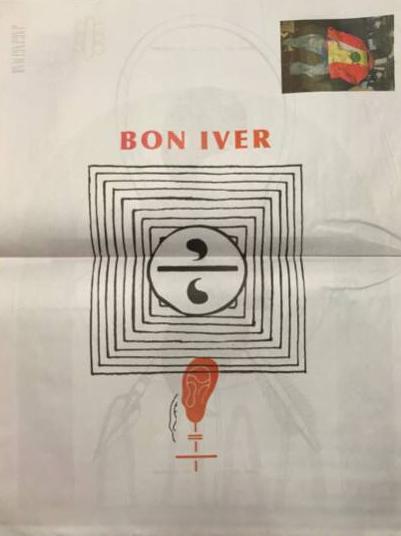 【レア】120部限定 Bon Iver ボン・イベェール 新聞
