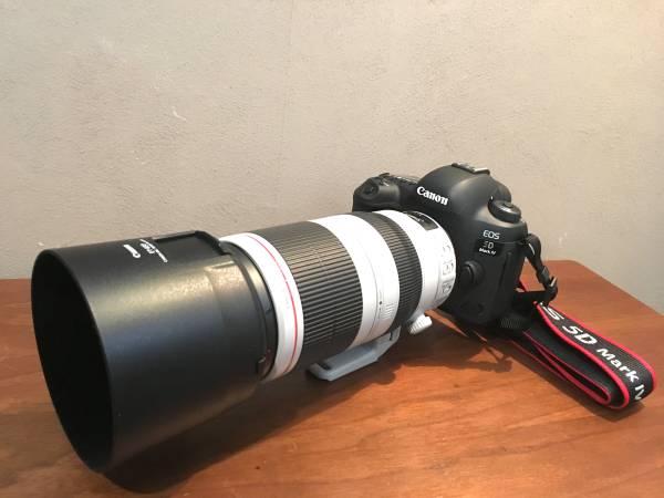 【10日レンタル】Canon EF100-400mm F4.5-5.6L IS II USM/Y!最安_オプションのカメラボディに装着イメージ