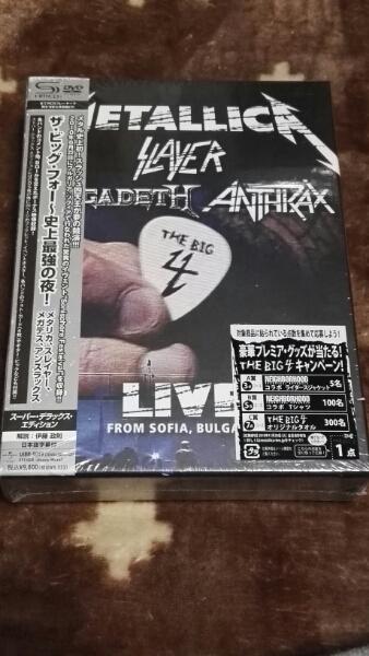 DVD ザ・ビッグ・フォー~史上最強の夜!~ メタリカ スレイヤー ライブグッズの画像