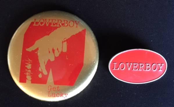 LOVERBOY ラバーボーイ 缶バッジ&メタルバッジ 1980年代もの