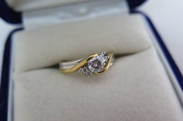 ◆◆ 値下げ【ダイヤ】【PT900/K18】リング 0.47ct/0.07ct 11号 oi ◆◆_綺麗なダイヤリングですよ!