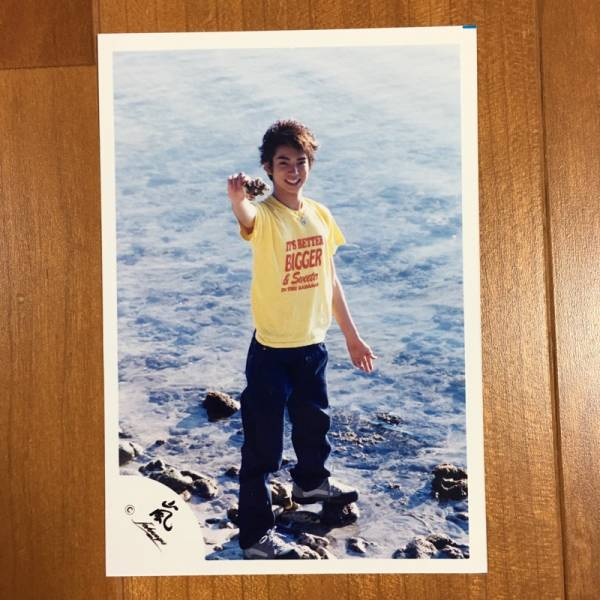 即決¥2000★嵐 公式写真 2275★松本潤 貴重 Jr.時代 Jロゴ