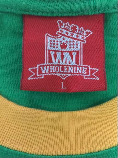 [即決古着]WHOLENINE/ホールナイン/グラフィックTシャツ/半袖/緑/グリーン/L3