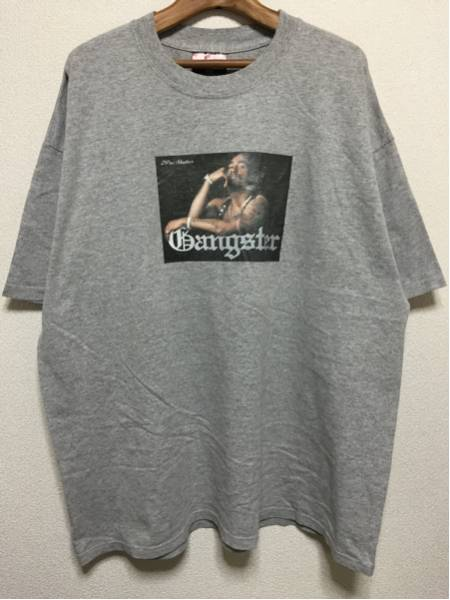 [即決古着]HOT HOUSE/Gangster/2Pac Shakur/Tシャツ/グレー/XXL