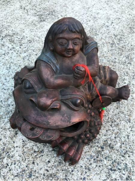 古い朱泥 蟾蜍(ひきがえる) 置物-日本代购网图片1链接