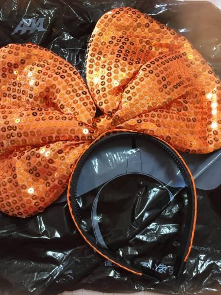 AAA西島隆弘 リボンカチューシャ橙 オレンジ 未使用袋あり ライブグッズの画像