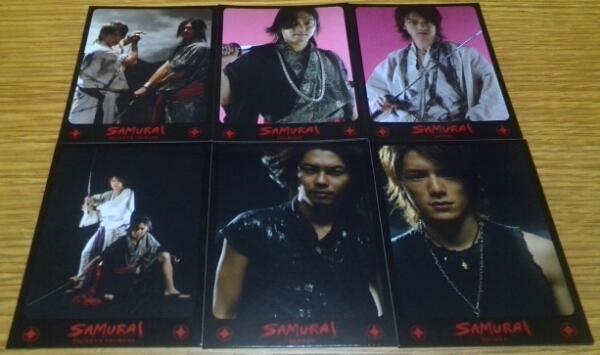 タッキー&翼「SAMURAI」封入トレカ全6種コンプ! コンサートグッズの画像