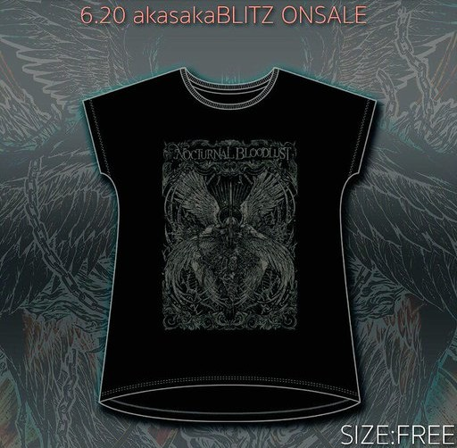 【NOCTURNAL BLOODLUST】TALL SIZE Tシャツ 2015年赤坂BLITZ