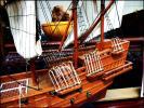★木製 模型 ガレオン船 帆船 船 置物 オブジェ 飾物/日1455★