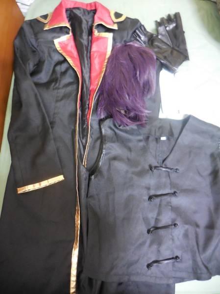 業者製 銀魂 高杉晋助 攘夷戦争 コスプレ 衣装 女性Mサイズ ウィッグ セット グッズの画像