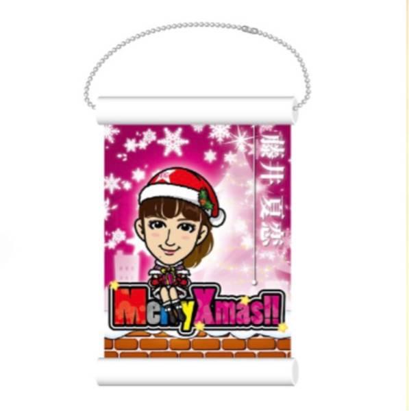 E-girls Happiness 藤井夏恋 ミニタペストリー クリスマス衣装 ガチャ ライブグッズの画像