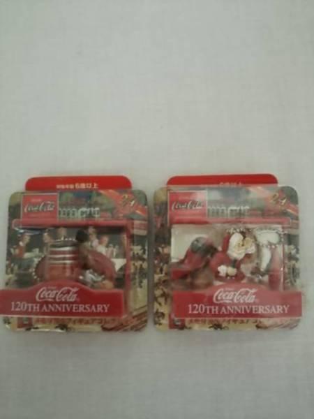 Brand new! ☆ Coca Cola 120th Anniversary Memorial Figia Santa Claus Christmas Ornament 2 Set ☆