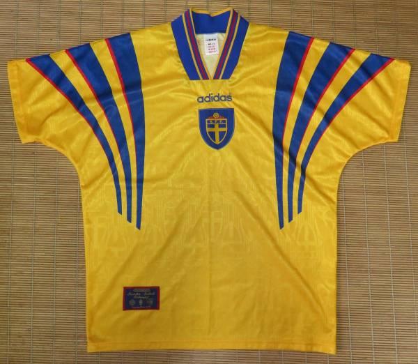 正規品 1996-97スウェーデン代表~ホーム用・半袖・ユニフォーム ダーリン ラーションイブラヒモビッチ_画像1