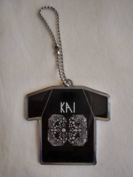 ■EXO KAI□Tシャツ型 キーリング キーホルダー