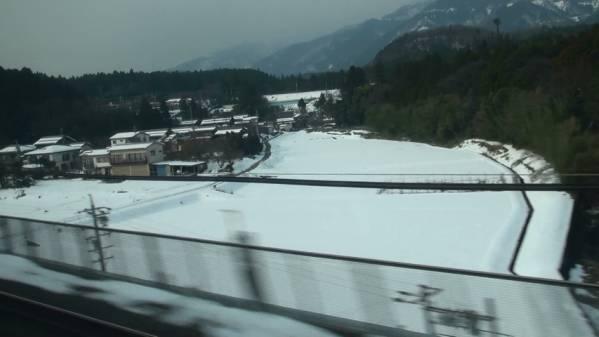300系「ひかり511号」 車窓 東京→新大阪 (字幕無/有BD-R DL1枚)_関ヶ原付近の残雪