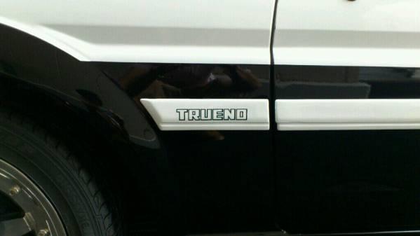 60M AE86 トレノ サイドモールステッカー黒 送料込