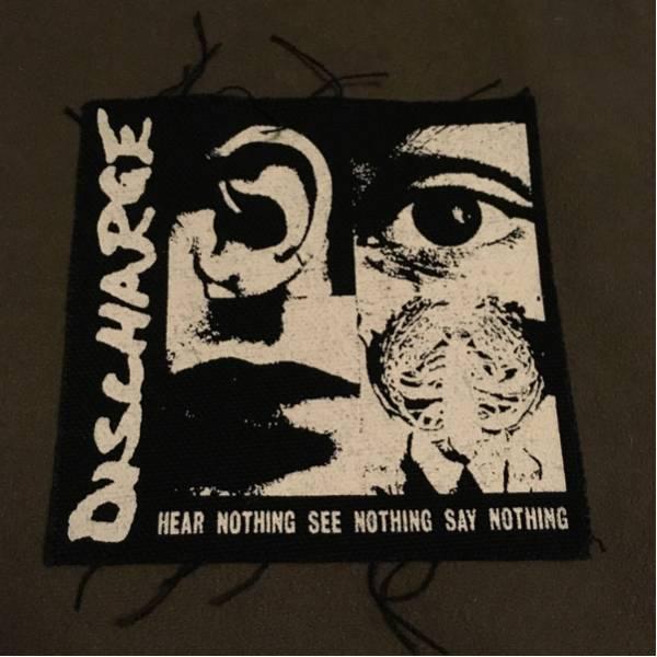 discharge ディスチャージ hear nothing パッチ /GAUZE GISM