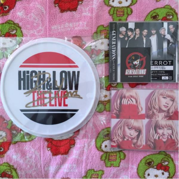 HiGH&LOW THE RAMPAGE 与那嶺瑠唯 フリスビー サイン CD ライブグッズの画像