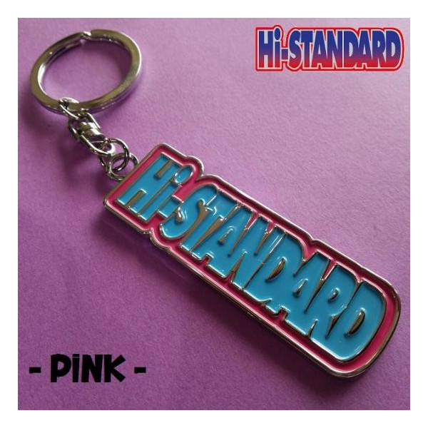 ハイスタンダード/メタルキーホルダー/Hi-STANDARD/AIRJAM/PINK ライブグッズの画像