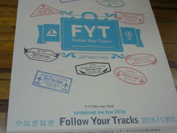 レア品B2大 ポスター やなぎなぎ Follow Your Tracks
