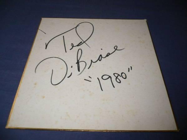 直筆サイン色紙(83)プロレス  テッド・デビアス 1980年
