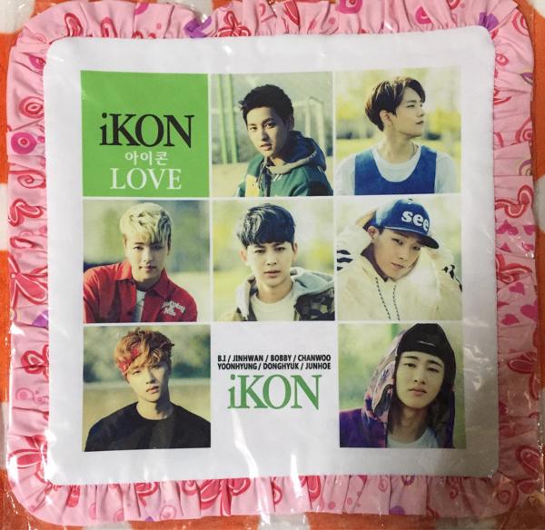iKON クッション カバー アイコン ラス1 ライブグッズの画像