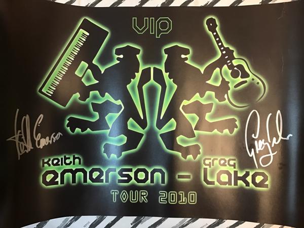 ♪キース・エマーソン&グレッグ・レイク「直筆サイン入りポスター」2010年USツアーVIPパッケージ特典/KEITH EMERSON&GREG LAKE♪ELP♪