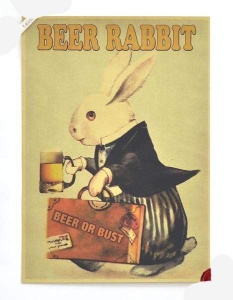46ポスター poster ウサギのビール