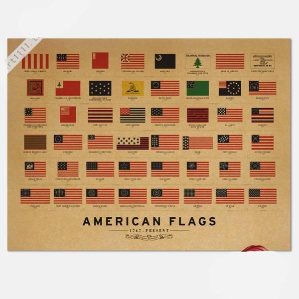 180ポスター poster アメリカ合衆国の国旗