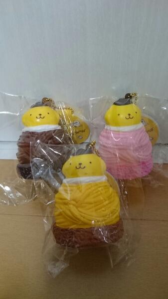 ポムポムプリンぷにぷにマスコット スクイーズ モンブランケーキ グッズの画像