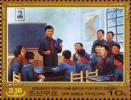 白頭山に輝く大なる不敗の鋼鉄将軍 少年金正日2枚 北朝鮮切手