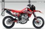 2012-2016 CRF250L CRF250M グラフィック デカール キット 43