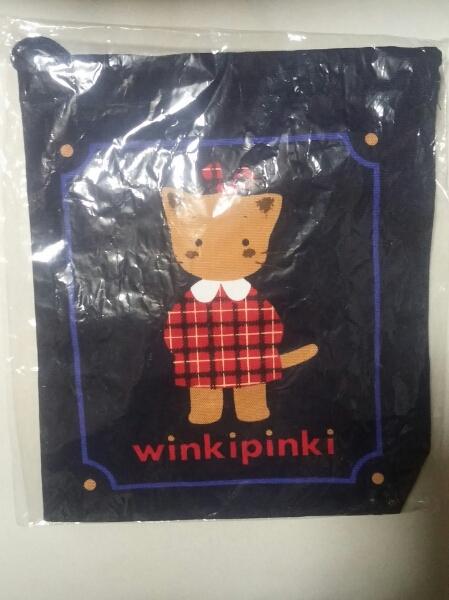 サンリオ レトロ 1992年 winkipinki 巾着 ウィンキーピンキー グッズの画像