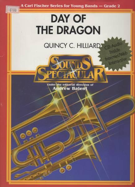 吹奏楽楽譜/Q.ヒリアード:デイ オブ ザ ドラゴン/CD付/試聴/絶版_画像1